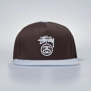 Stussy  snapback Stock Lock HO17 Cap brown