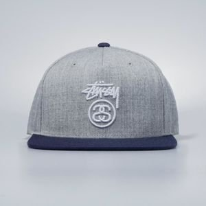 Stussy  snapback Stock Lock HO17 Cap grey heather