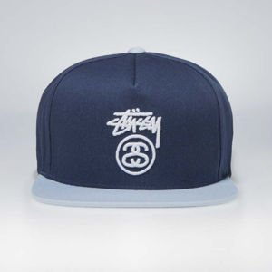 Stussy  snapback Stock Lock SP18 Cap navy