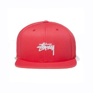 Stussy snapback Stock SP18 Cap red