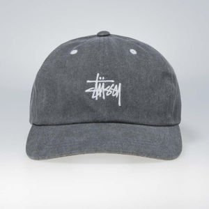 Stussy strapback Washed Stock Low Pro Cap black