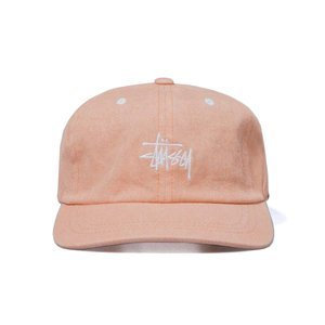 Stussy strapback Washed Stock Low Pro Cap orange