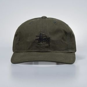 Stussy strapback Wax Cotton Low Pro Cap green