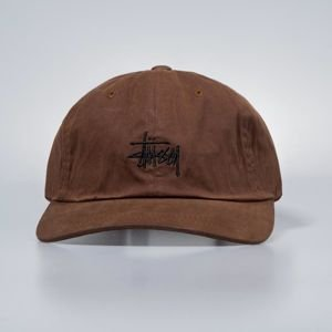 Stussy strapback Wax Cotton Low Pro Cap rust