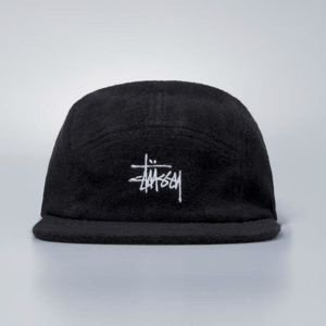 Stussy strapback cap Stock Rubber Patch black