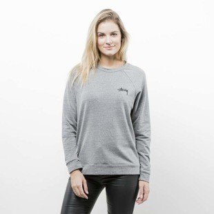 Stussy sweatshirt 8 Ball Crew grey heather WMNS