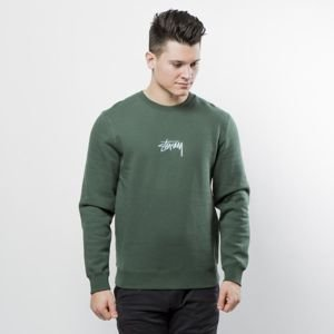 Stussy sweatshirt Stock App Crewneck dark forest