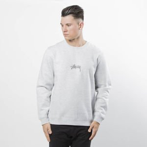 Stussy sweatshirt Stock App Crewneck grey heather
