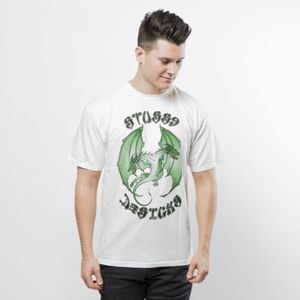 Stussy t-shirt Double Dragon Pig. Dyed Tee natural