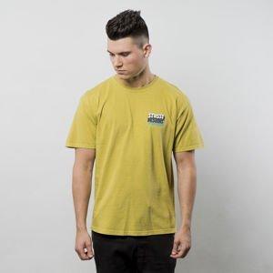 Stussy t-shirt Politics Of Ecstasy P Dyed Tee mustard FW17