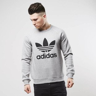Sweatshirt Adidas Originals Trefoil Crewneck grey heather / black (BK5866)