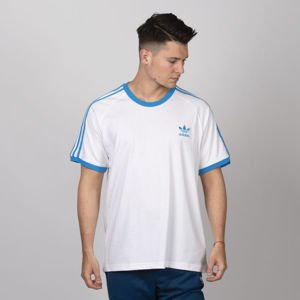 T-shirt  Adidas Originals 3-Stripes Tee white / shock cyan