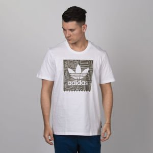 T-shirt  Adidas Originals Dakari BB Tee white / raw khaki / night cargo
