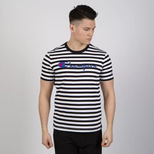 T-shirt Champion Reverse Weave Stripe white / black