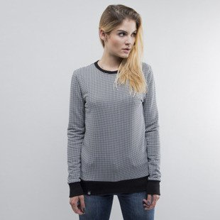 The Hive crewneck Checker Jumper black / white