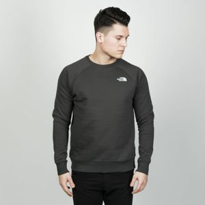 The North Face Sweatshirt M Raglan Red Box Crew asphalt grey