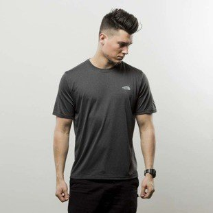 The North Face T-Shirt Reaxion Amp Crew dark grey heather T0CE0QDYZ