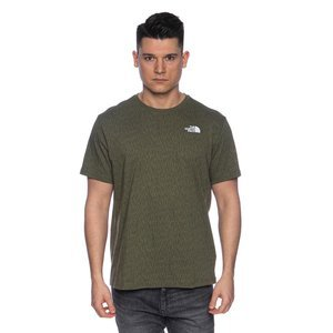 The North Face T-shirt M S/S Red Box Tee green rain cam