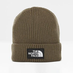 The North Face TNF Logo Box Cuf Beanie new taupe green T93FJX21L