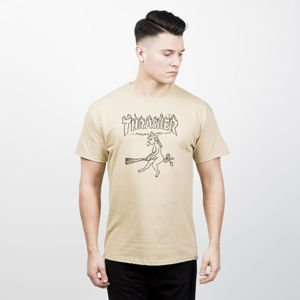 Thrasher Drunk Witch T-shirt tan