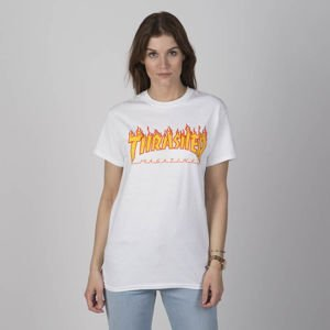 Thrasher WMNS t-shirt Flame Logo white
