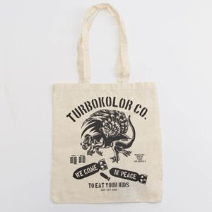 Turbokolor Tote Bag Peace ecru