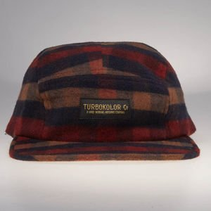 Turbokolor strapback 5Panel Pagan Cat flannel