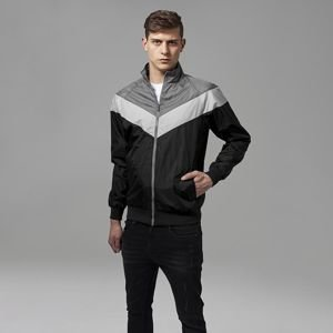 Urban Classics Arrow Zip Jacket black / dark grey / grey TB1615
