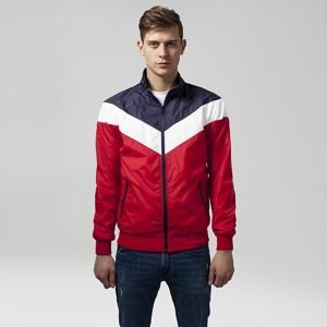 Urban Classics Arrow Zip Jacket navy / red / white TB1615