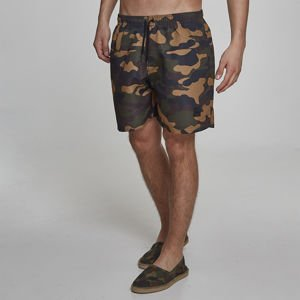 Urban Classics Camo Swim Shorts woodcamo