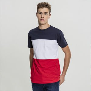 Urban Classics Color Block Tee firered / navy / white