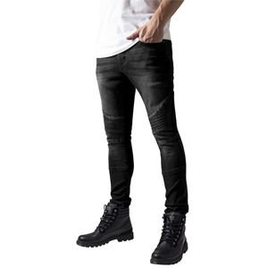 Urban Classics Slim Fit Biker Jeans black washed TB1436