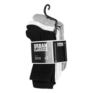 Urban Classics Sport Socks 3-Pack black / white / grey