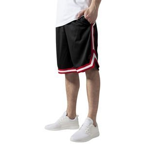 Urban Classics Stripes Mesh Shorts black / red / white