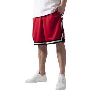 Urban Classics Stripes Mesh Shorts red / black / white