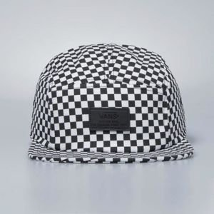 Vans cap Davis 5 Panel black - white chessboard VN000UM2HU0