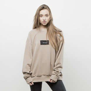 We Peace It sweatshirt Oblivion Crewneck beige WMNS
