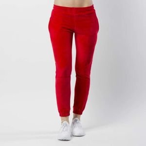 Women sweatpants KOKA Fake-Tape Velvet Pants red