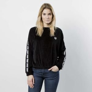 Women sweatshirt KOKA Fake-Tape Velvet Crewneck black