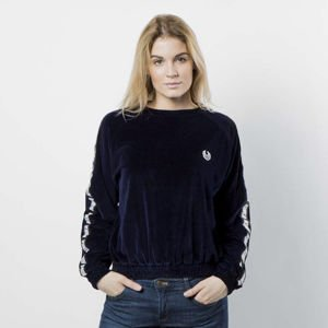 Women sweatshirt KOKA Fake-Tape Velvet Crewneck navy