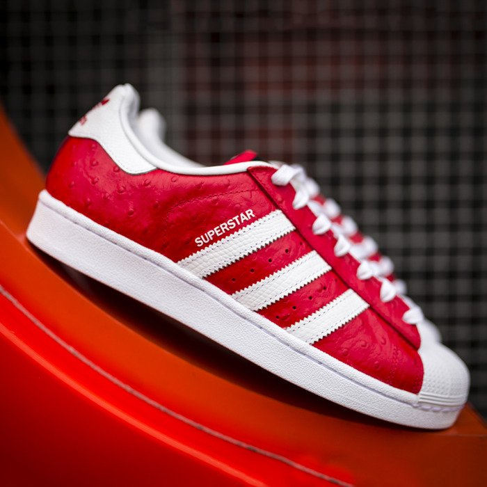 Adidas Originals Superstar Animal Red White S75158 Bludshop Com