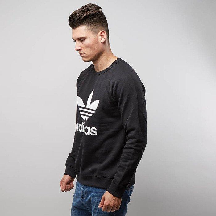 e6520b9549bbb ... Adidas Originals Sweatshirt Trefoil Crewneck black AY7791 ...
