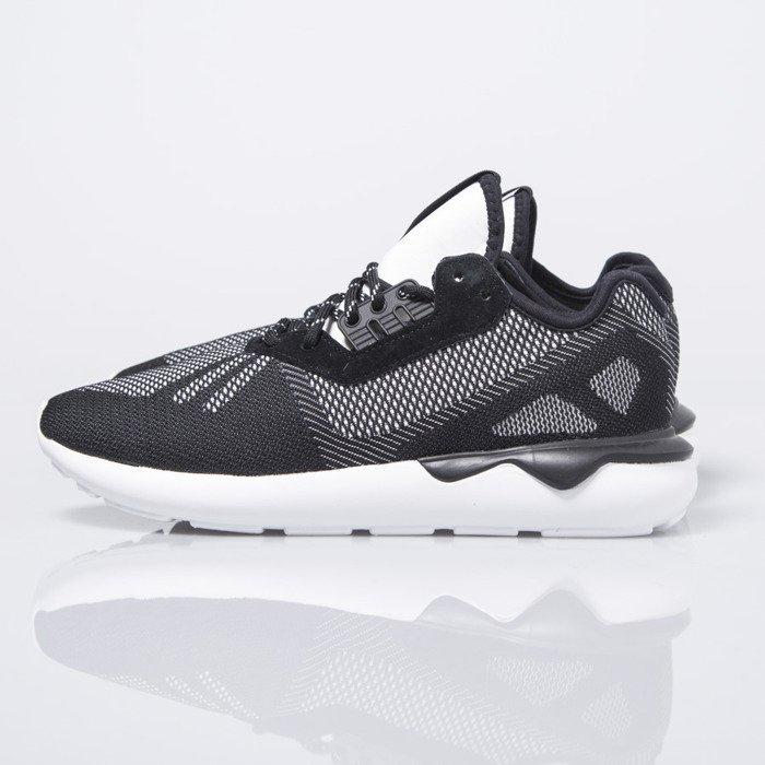 Adidas Originals tubular tejido negro / blanco (s74813 corredor