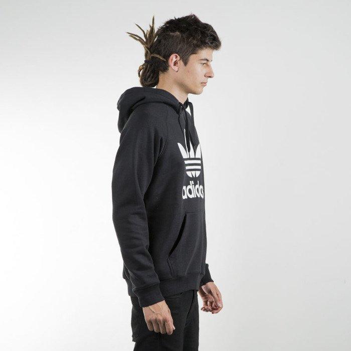 z Men Adidas Originals Trefoil Pullover Hoodie Black AB8291