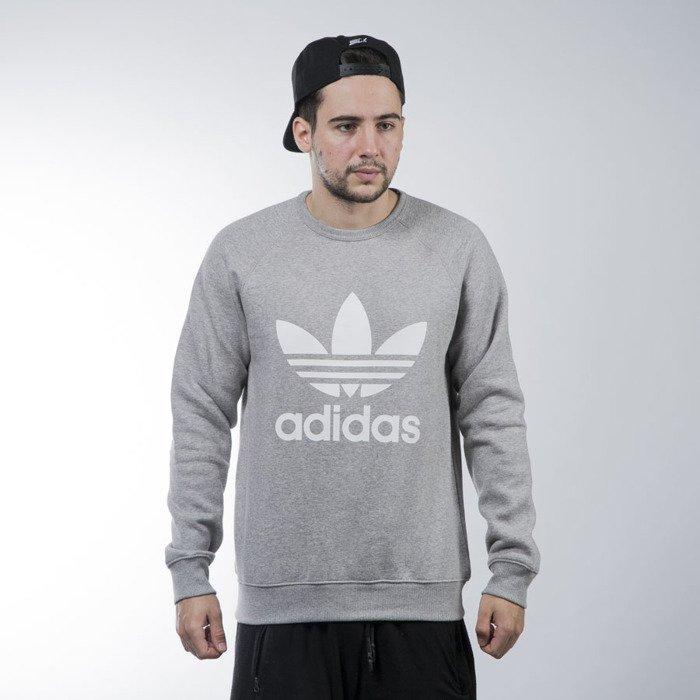 23645695a11b6 ... Adidas Originals sweatshirt Trefoil Crew grey heather (AY7792) ...