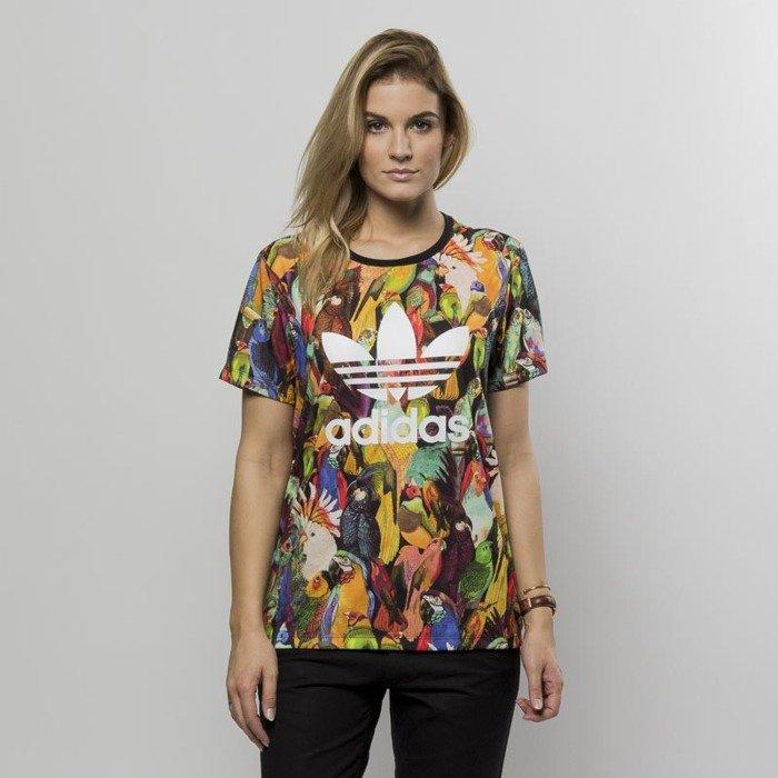 ... Adidas Originals women t-shirt Passaredo Tee multicolor BR5149 ...