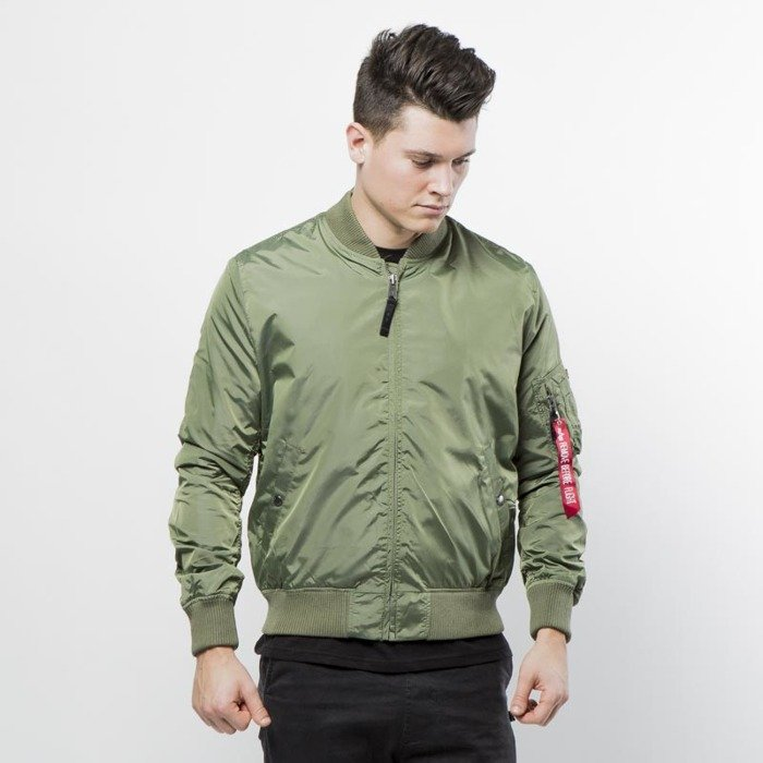 ... Alpha Industries Bomber Jacket MA-1 TT sage green ...