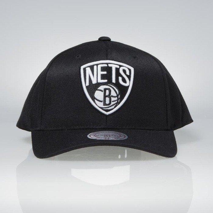 48de0e700d16f ... Flexfit 110 · Cap Mitchell   Ness snapback Brooklyn Nets black Team  Logo High Crown Flexfit ...