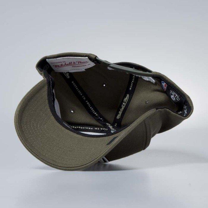 Mitchell /& Ness 110 Flexfit Snapback Cap Brooklyn Nets Olive