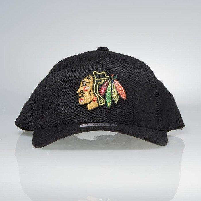 Cap Mitchell   Ness snapback Chicago Blackhawks black Team Logo High Crown  Flexfit 110  a8c9c7ff1996